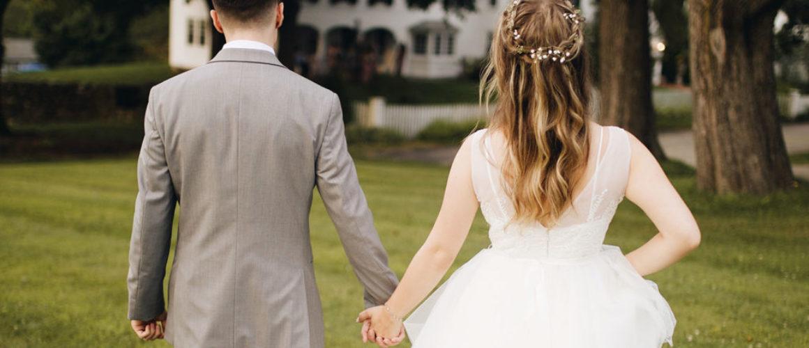A close look at this classy garden wedding reception
